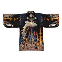 Black Kimono, Silk Kimono, Ballet Russe, Byzantine, Notre Dame, Print Design, Print Patterns, Pure Products, Firebird