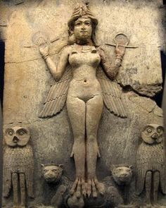Lilith - Ancient Sumerian Image also considered to be an image of Inanna  Goddess of Mysteries