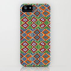 african pattern iPhone & iPod Case by hardkitty - $35.00