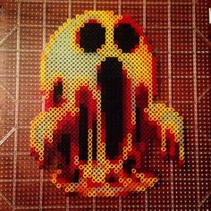 Breath of fire Ghost Perler Bead Pattern Melty Bead Patterns, Pearler Bead Patterns, Perler Patterns, Beading Patterns, Diy Perler Beads, Perler Bead Art, Pearler Beads, Pixel Beads, Fuse Beads