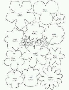 펠트꽃 머리핀 만들때 완젼 유용한 도안들 모아봤어요~♡핀터레스트에서 검색해서 찾았네요 공유해서 예쁜 ...