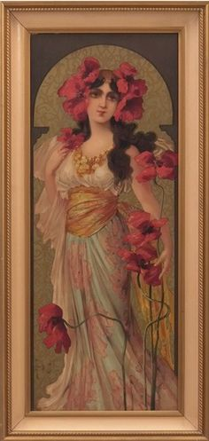 """""""Depose, No. 1"""" or """"Poppy"""" by British lithographer Mary Golay (1900)...."""