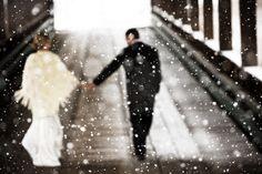 Photography by www.jameschristianson.com  Read more - http://www.stylemepretty.com/2008/12/16/winter-wedding-wonderland/
