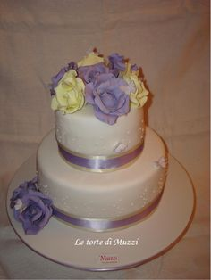 Ivory and violet roses