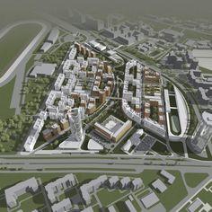 Architecture Design, Architecture Concept Drawings, Urban Landscape, Landscape Design, City Skylines Game, Pool Drawing, Urban Design Plan, Residential Complex, Site Plans