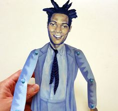 Jean Michel Basquiat DIY Paper Puppet Doll by FamousArtistsClub, $3.50