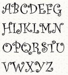 Alphabet Curlz Font 3 inch stencil by Linleys Designs - Craftsy Cursive Alphabet, Hand Lettering Alphabet, Alphabet Stencils, Alphabet Templates, Stencil Templates, Stencil Patterns Letters, Cool Fonts Alphabet, Printable Stencils, Bunny Templates