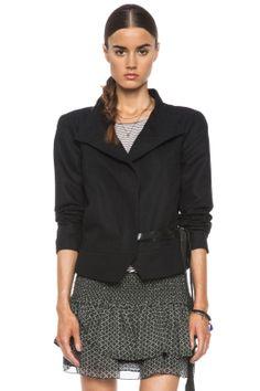 Isabel Marant|Debra Linen-Blend Wrap Jacket in Black
