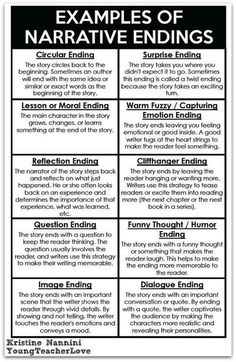 Narrative Endings FREE! Writing Narrative Endings Printable anchor chart- Young Teacher Love by Kristine NanniniFREE! Writing Narrative Endings Printable anchor chart- Young Teacher Love by Kristine Nannini Book Writing Tips, English Writing Skills, Writing Lessons, Writing Words, Writing Workshop, Writing Resources, Teaching Writing, Writing Help, Writing Activities