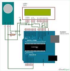 Measuring PPM from MQ-Gas Sensors circuit diagram using Arduino