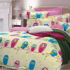Owl Girls Bedding Sets Yellow