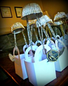Catching Fire/Hunger Games Birthday Favors