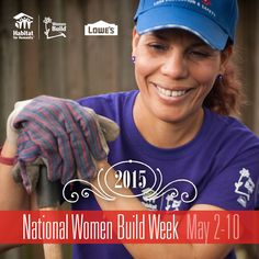 Pin your best pictures from National Women Build Week using #WomenBuild for a chance to win one of nine Lowe's gift cards!