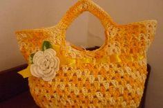 bolsa de crochê  feita em barbante barroco em varias cores R$ 50,00