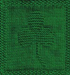 Knitted Shamrock Cloth
