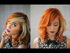 Hair Color Streaks, Blonde Streaks, Red Blonde Hair, Dark Hair, Vintage Hairstyles, Wig Hairstyles, Hair Colours 2014, Shaved Hair Cuts, Pretty Hair Color