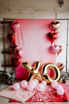 Rose Gold Balloons, Heart Balloons, Mylar Balloons, Balloon Garland, Valentines Day Cookies, Valentines Day Party, Valentines Day Decorations, Valentines Hearts, Mother's Day