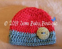 Hey, I found this really awesome Etsy listing at https://www.etsy.com/listing/198788243/cute-newborn-crochet-red-grey-baby-boy