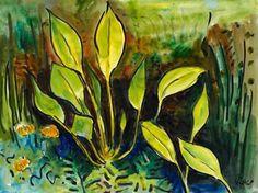 Wasserlilien (Water Lilies)  - Karl Schmidt-Rottluff