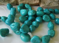 Chunky Nugget Turquoise Beads Natural by jewelrycatsupplies, $21.95