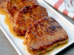 Cider-Glazed Pork Chops Recipe This apple cider-glazed pork chops recipe is easy enough for everyday but elegant enough for company!This apple cider-glazed pork chops recipe is easy enough for everyday but elegant enough for company! Cider Pork Chops, Glazed Pork Chops, Apple Pork Chops, Boneless Pork Chops, Pork Loin, Pork Roast, Brown Sugar Pork Chops, Pork Ham, Grilled Pork
