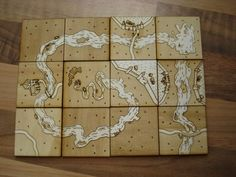 msraynsford's laser cut Carcassonne game board [Instructables]