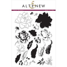 Altenew PEONY BOUQUET Clear Stamp Set  Preview Image