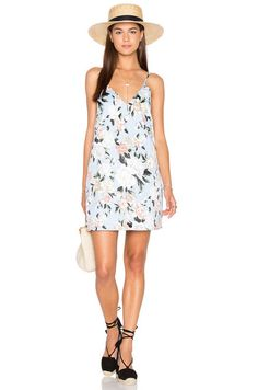 Lucca Couture V Neck Shift Dress in Powder Blue Floral | REVOLVE
