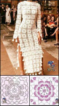 Mode Crochet, Basic Crochet Stitches, Crochet Motif, Crochet Lace, Crochet Bikini, Crochet Edgings, Crochet Tops, Cross Stitches, Freeform Crochet