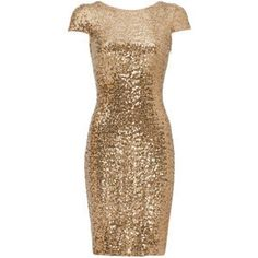 Rental Badgley Mischka Gold Swank Sequin Sheath and other apparel, accessories and trends. Browse and shop related looks. Short Fitted Dress, Dresses Short, Fitted Dresses, Short Gold Dress, Fitted Skirt, Dresses Dresses, Pretty Dresses, Beautiful Dresses, Beige Cocktail Dresses