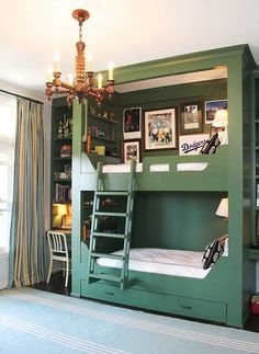 60 Magical Kids Rooms - Style Estate - Practical? Noooo Creative?? You betcha! (could we adapt some of the ideas on a scaled-down version maybe??)