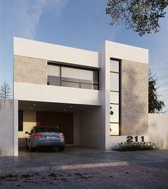 Ggg #fachadasminimalistas #casaspequeñasmodernas #casasminimalistas Villa Design, Facade Design, Exterior Design, Arch House, Facade House, House Front Design, Modern House Design, Residential Architecture, Architecture Design