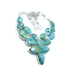 One of a Kind One of a Kind Polished Turquoise Statement Necklace #jewelry #ooak $575.99