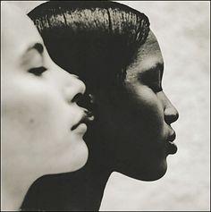 """Ebony & Ivory"" (1993) (Christy Turlington and Naomi Campbell) Photographer: Anton Corbijn, The Netherlands:"