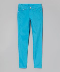 Look what I found on #zulily! Turquoise Skinny Pants #zulilyfinds