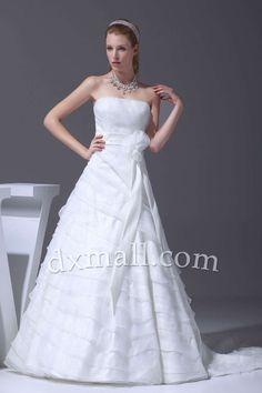 A line Sweetheart Lace Court Train Appliques Wedding Dresses