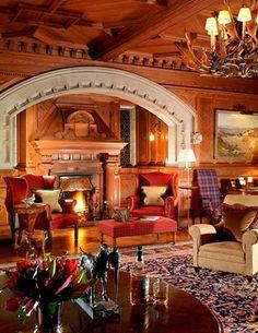 Lounge, Skibo Castle, Scotland.