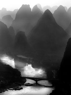 Li River Karst Landscape - I am going there some day!  Guilin, Guangxi Autonomous Region, China