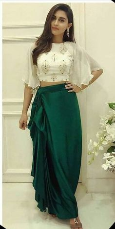 Indian Gowns Dresses, Indian Fashion Dresses, Indian Designer Outfits, Indian Fashion Trends, Indian Fashion Modern, India Fashion, Dhoti Saree, Anarkali, Kurti