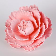 Gumpaste Pink Ombre Peony made of sugar, cake topper. Ready for any cake.  DIY instantly.  From #Caljava