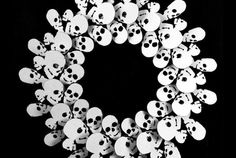 Gather up paper skulls in different sizes to make this cool skull wreath!