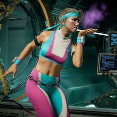 Mortal Kombat Cosplay, Sonya Blade, Mileena, Aliens Movie, Cartoon Profile Pictures, Cartoon Icons, Naruto Wallpaper, Female Characters, Videogames