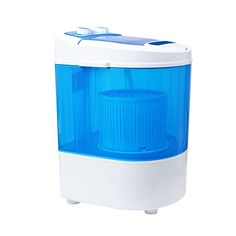 Homeleader W01012 Mini Washing Machine Portable and Compact Laundry Washer with 66lbs Capacity Single Tub Blue and White
