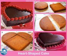 Yummy heart cake idea! - Foood Style