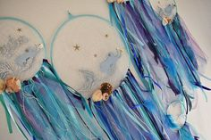 Mermaid dream catcher Sea dreamcatcher nautical beach decor