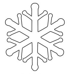 Snowflake outlines to use for crafts, Christmas decorations, refrigerator magnets and more snowflake activities. Easy to use, print and cut out. Snowflake Template, Snowflake Pattern, Snowflakes, Wool Applique Patterns, Embroidery Patterns, Diy And Crafts, Crafts For Kids, Christmas Crafts