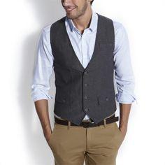 Gilet de costume en tweed Gris Fantaisie homme – la mode homme sur Jules.com