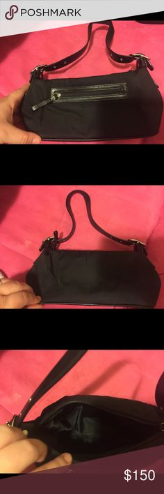 Brand new coach black hand bag Small black coach bag, great for dates, going out or really anywhere! Coach Bags Shoulder Bags