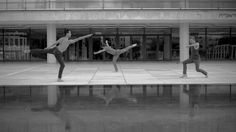 Three Dancers from PARIS OPERA BALLET offering a quick look at one of the main squares in Tel-Aviv through multidisciplinary arts