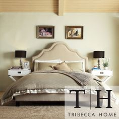 Fletcher Linen Nailhead Arch Curved Upholstered Full Bed by Inspire Q (Platform Bed- Beige), Brown Upholstered Full Bed, Upholstered Platform Bed, Upholstered Headboards, Header, Small Bedroom Paint Colors, Full Bed Frame, Headboard And Footboard, Nailhead Headboard, Full Headboard